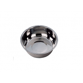 Gamelle pour chien chromée Ø 13 cm