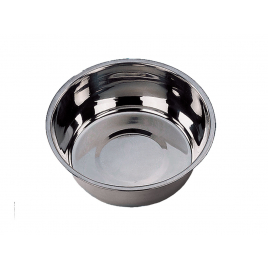 Gamelle pour chien chromée Ø 21 cm
