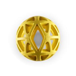 Balle creuse en caoutchouc jaune Ø 9 cm