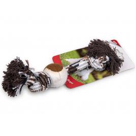 Corde avec balle pour chien 26 cm