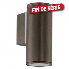 Applique extérieure brune Riga 5 LED Ø 6,5 x 15 cm GU10 3 W EGLO