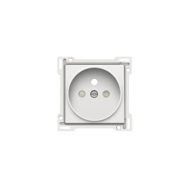 Enjoliveur pour prise de courant blanc 21 mm NIKO