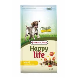 Sac de croquettes pour chien Happy Life Poulet 3 kg