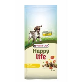 Sac de croquettes pour chien Happy Life Poulet 15 kg