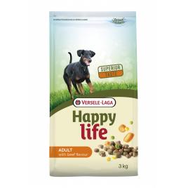 Sac de croquettes pour chien Happy Life Boeuf 3 kg