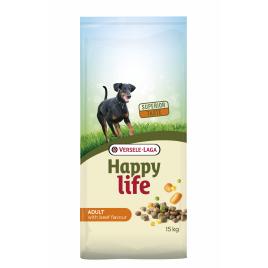 Sac de croquettes pour chien Happy Life Boeuf 15 kg