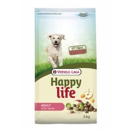 Sac de croquettes pour chien Happy Life Agneau 3 kg