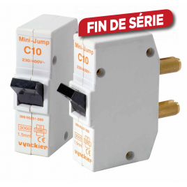 Disjoncteur à broches Mini-Jump 10 A 2 pièces VYNCKIER