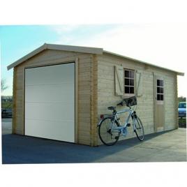 Garage 40 mm 3,58 x 5,38 m avec porte sectionnelle SOLID