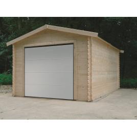 Garage Traditional 28 mm avec porte sectionnelle 3,58 x 5,08 m SOLID