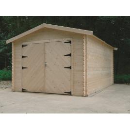 Garage Traditional 28 mm avec double porte 3,58 x 5,08 m SOLID