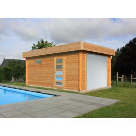 Garage Moderne 40 mm avec porte sectionnelle 3,58 x 5,38 m SOLID