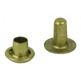 Rivet tubulaire en laiton 10 mm 4 pièces