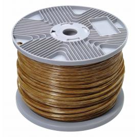 Câble audio 2 x 0,75 mm² transparent au mètre PROFILE