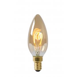 Ampoule à filament LED flamme C35 E14 3 W dimmable LUCIDE