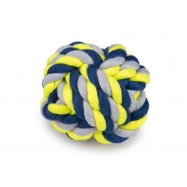 Balle jaune et bleue pour chien Ø 10,5 cm