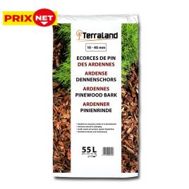 Palette 45 sacs Ecorces de pins sylvestre des Ardennes 55 L TERRALAND (livraison à domicile)