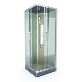 Cabine de douche Fuzzy carrée 90 x 90 x 215 cm AURLANE