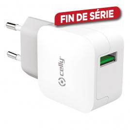 Chargeur secteur 1 port USB 2,4 A