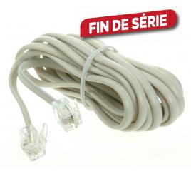 Câble téléphonique RJ11 6/4 mâle 10 m