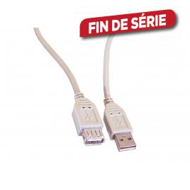 Câble USB A mâle/USB A femelle 1,8 m