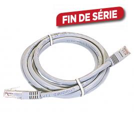 Câble Ethernet RJ45 mâle/mâle gris 10 m