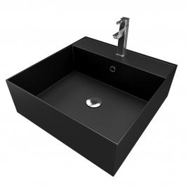 Vasque à poser Fjord noire carrée 40 x 40 x 14 cm AURLANE