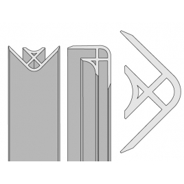 Profilé d'angle pour panneau de douche Colors noir AURLANE