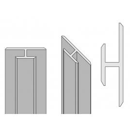 Profilé de jonction pour panneau de douche Colors noir AURLANE