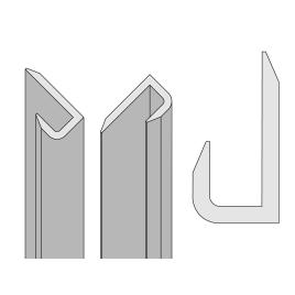 Profilé de finition pour panneau de douche Colors noir AURLANE