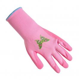 Gants de jardinage rose pour enfant AVR TOOLS