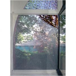 Moustiquaire pour fenêtre noir 100 x 100 cm CONFORTEX