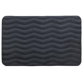 Tapis de salle de bain Memory Waves gris foncé 80 x 50 cm WENKO