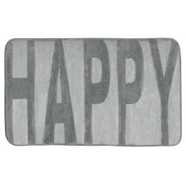 Tapis de salle de bain Memory Happy gris 80 x 50 cm WENKO