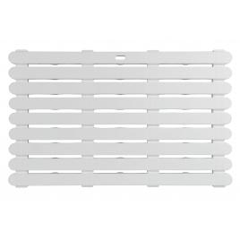 Caillebotis de bain In & Outdoor blanc 80 x 50 x 3 cm WENKO