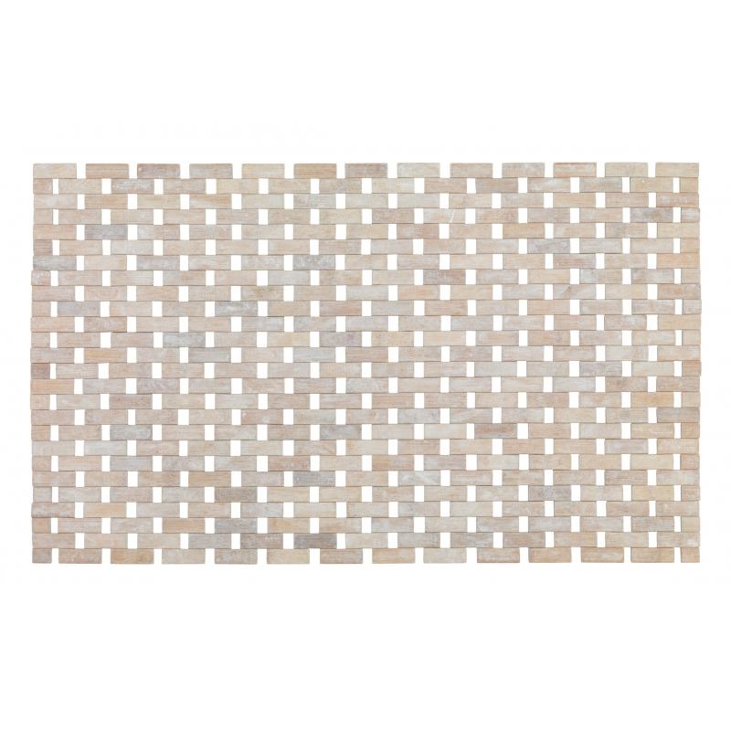 tapis de salle de bain bambou massif 80 x 50 cm wenko mr bricolage