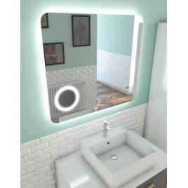 Miroir de salle de bain lumineux Silver Shadow 80 x 70 cm AURLANE