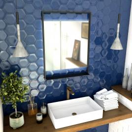 Miroir de salle de bain lumineux Steel 60 x 80 cm AURLANE