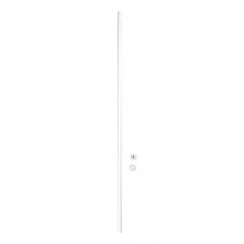Barre de rideau de douche télescopique blanche 70-115 cm WENKO
