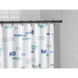 Barre de rideau de douche télescopique noire 70-115 cm WENKO