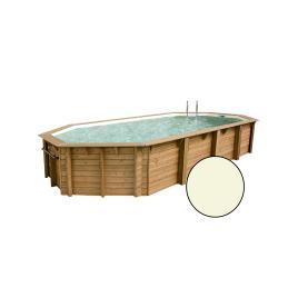 Piscine avec liner beige Océa 4,7 x 8,6 x 1,3 m UBBINK