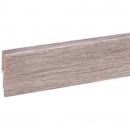 Plinthe pour sol stratifié chêne gris clair 240 x 5,8 x 1,2 cm CANDO