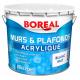 Peinture acrylique pour murs et plafonds blanc mat 10 L BOREAL PRO