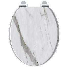 Abattant pour WC Naturo Marble Blanc ALLIBERT