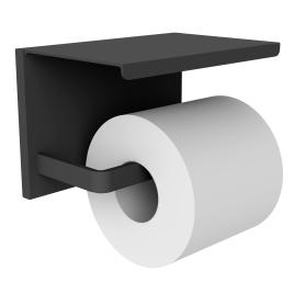 Dérouleur de papier toilette avec tablette noir mat Loft Game ALLIBERT