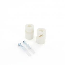 Crochet de fixation en V pour câble blanc 2 pièces CHACON