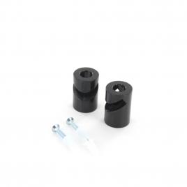Crochet de fixation en V pour câble noir 2 pièces CHACON