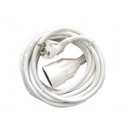 Allonge électrique 3 x 1,5 mm2 5 m blanche CHACON