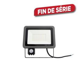Projecteur gris avec détecteur de mouvement 50 W