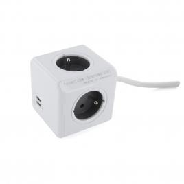 Powercube 3 prises 16 A et 2 USB 2 A CHACON